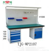 Cheap TJG-WP1807 Kunshan small industrial work table with rubber top and light for sale