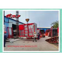High Efficiency Temporary Rack And Pinion Lift For Construction Site Double Cage