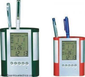 China calendar penholder,pen holder,pencil holder,penholder clock,penholder calendar,promotion gifts,stati on sale