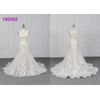 Cheap Tulle Mermaid Bridal Gowns Lace Fishtail Wedding Dress For Ladies Party Wear for sale