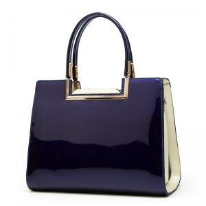 China 0.7kg Blue Coat Paint Retro PU Leather Handbags on sale