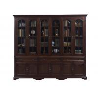 China Home Office Study room furniture American style Big Bookcase Cabinet with Display chest can L shape for corner wall case on sale