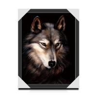 Cheap 25x35cm Lenticular 3D Animal Picture With PS Frame Eco - Friendly Material for sale
