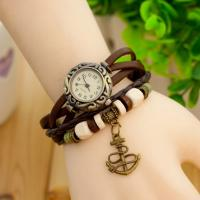 Cheap Vintage Electronic Leather Quartz Watch with Analog Display for sale