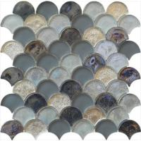 Cheap Magic grey series water waving glass mosaic for man's room wholesale