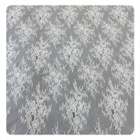 Buy cheap 150CM Wedding Dress Floral Lace Fabric Chantilly OEM Textile Floral Fabric from wholesalers