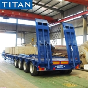 Cheap 100 Ton Low Bed Truck Trailer for Sale in Senegal Dakar for sale
