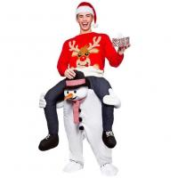 Cheap Carry Me Mascot Piggy Back Ride On Novelty Snowman Mascot Costumes For Christmas for sale
