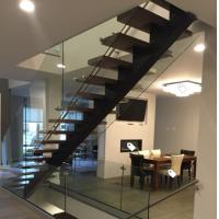 Cheap Classic european style black stair steel tread staircase for sale