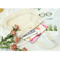 China Canvas Cotton Tote Bag Round Corner Hemming Light Weight Simple Style on sale