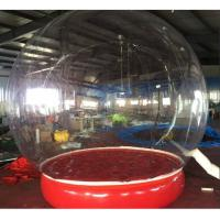 Cheap Inflatable Bubble Show Ball Inflatable Red Bubble Tent For Display 2M D for sale