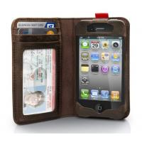 Cheap 360 Degree Stand Flip Leather Case with business card holder for Apple iphone 4s for sale