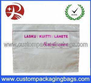 PP Or PE Film Custom Packing Bags List Invioce Envelope