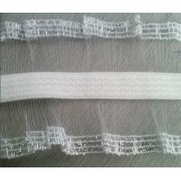Cheap Woven Elastic Webbing for clothing with special sides with waterproof poly bag packing for sale