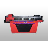 Cheap Industrial UV Glass / Wood Printing Machine With Double Print Head for sale