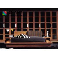 Cheap Solid Wood Contemporary Hotel Furniture Bedroom Sets Big Wardrobe for sale