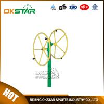 Cheap outdoor gym equipment steel based zinc powder coating Rotating Wheel-OK-J01A for sale