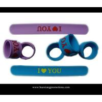 Cheap custom adjustable bulk cheap silicone wristband,silicon slap wristband for sale