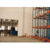 Cheap Multi Deep Shuttle Storage Pallet Racks 2 Aisles With 400W Travelling Motor wholesale