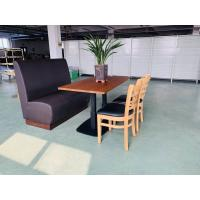 Cheap Cast Iron Table Base + Table top + Upholstry Booth Contract Furniture  Restaurant for sale