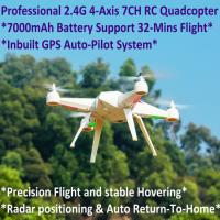 Cheap 2.4G 7CH Headless Predator RC Quadcopter Drone 32-Mins Flight & Inbuilt GPS One-Key Return for sale