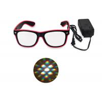 China El Wire Glow Led DJ Bright Light Safety Light Up LED flashing Diffraction glasses on sale