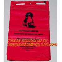 Cheap HDPE/LDPE Plastic Strength Red Medical Biohazard Waste Garbage Bag on roll for sale