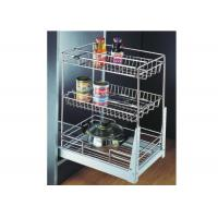 Buy cheap Triple Layers Kitchen Pull Out Basket Chrome Plated Finish Easy Installation from wholesalers