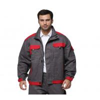 Cheap 100% Cotton Industrial Work Jackets Color Match Tear Resistant With Multi Pockets for sale