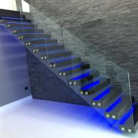 Cheap modern glass folding stairs / build floating staircase for sale