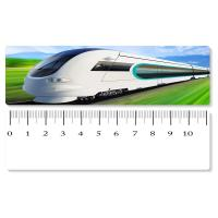 Cheap 5.4x31cm High - Speed Train 3D Lenticular Ruler PET Material For Student Stationery for sale