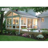 Cheap Heatproof 4 Season Glass Enclosed Sunroom With PVDF Coating Surface Finish for sale