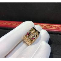 Cheap Glamorous 18K Gold Ruby And Diamond Ring , Serpenti Ring for sale