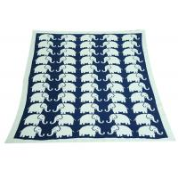 Cheap Elephant Pattern Knitted Knitted Wool Blanket For Home Decoration for sale