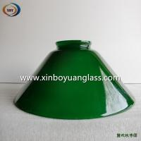 Quality Green bell shaped glass pendant light cover wholesale
