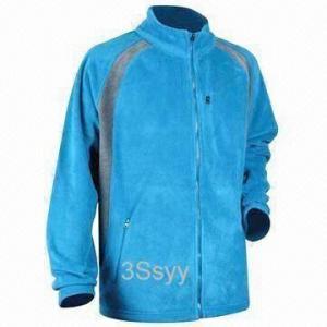 Cheap Men's Fleece Jacket with Plastic Zipper for sale
