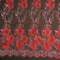 Buy cheap Lace cotton embroidery 3 D special dress lace(Factory direct sale spot hot style three-dimensional) from wholesalers