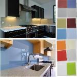 Cheap Kitchen Painted Glass Backsplash for sale