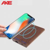 Quality Elegant Wireless Charger Power Bank 2 In 1 Fashinable Design With 6000mah Capacity wholesale