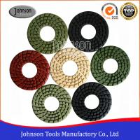 China Good Flexibility 4 Inch Diamond Stone Polishing Pads With Big Center Hole on sale