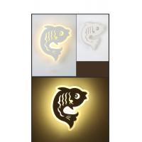 Cheap IP40 3000K Fish Acrylic LED wall light /indoor led wall lamp for Children rooms for sale