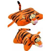 China Orange Lovely Disney Tigger Pillow Plush Cushion and Pillow With Plush Tigger Head For Bedding on sale