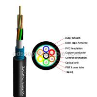 Cheap GDTS Hybrid Fiber Optic Cable Ultraviolet Prevention With Steel Tape for sale
