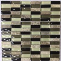 China Iridescent Crystal Ceramic Mosaic Tiles Washable Easy To Install on sale