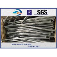 Cheap Railway Structural bolt with nut Hot Dip Zinc with 24x900mm 45# material for sale