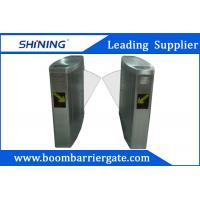 Cheap Pedestrian Access Flap Barrier Gate With Time Attendance Management Applications for sale