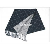 Cheap Dark Gray Mens 100% Woven Silk Scarf With Winter / Autumn for sale