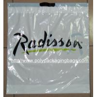 Cheap Customized White Plastic Drawstring Bags / Ribbon Drawstring Poly Bags for sale