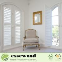 Cheap White Primed Waterproof Australian Style Shaped Round  Window Shutter for sale