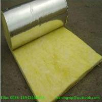 Cheap Fiber glass wool blanket with Alum.foil for oven insulation for sale